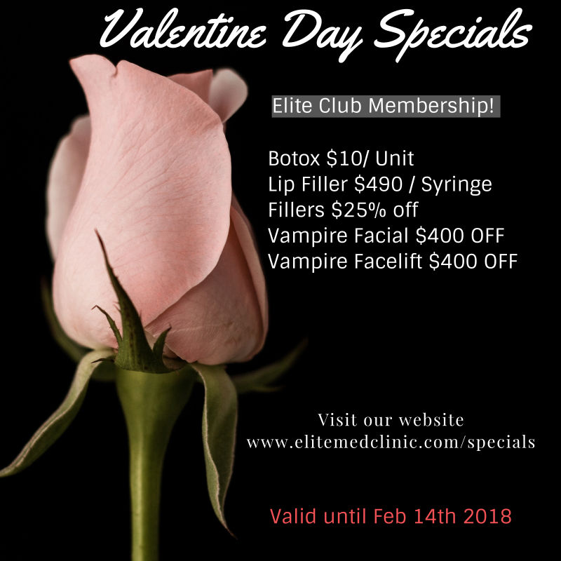 valentine flyer Elite Medical Aesthetics Rocklin Happy Valentines Specials Sacramento